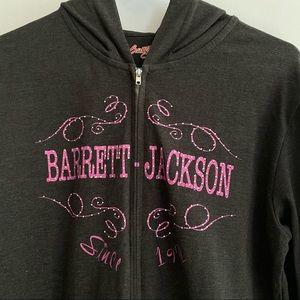 Barrett-Jackson autoshow zip hoodie bling L